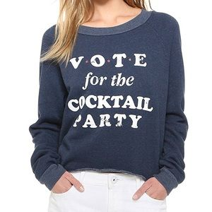NWT.  Wildfox Cocktail Party Cropped Sweatshirt